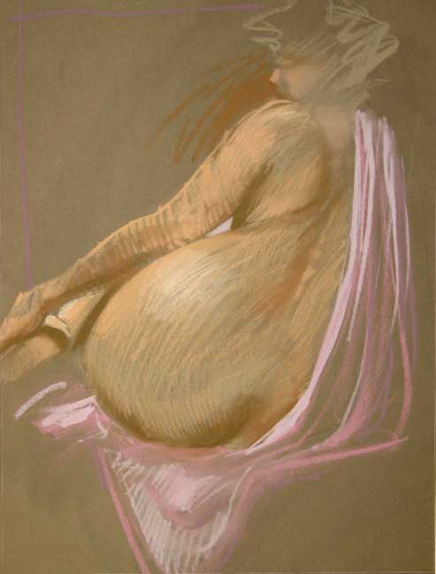 Nude With Pink Drape