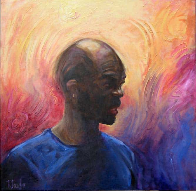 Acrylic Portrait Of Hines