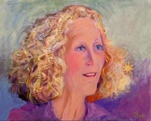 Mixed Media Portrait Of Kay
