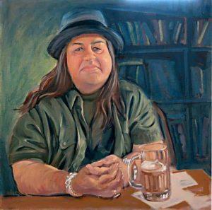 Oil Portrait Of Diane