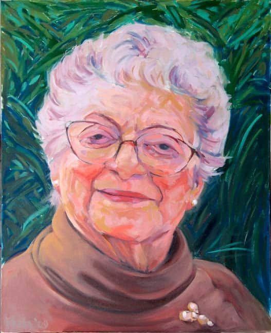 Oil Portrait Of Ida