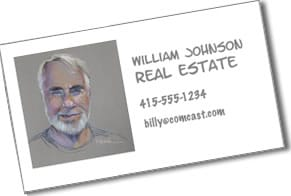 Pastel Portrait of Billy on his business card
