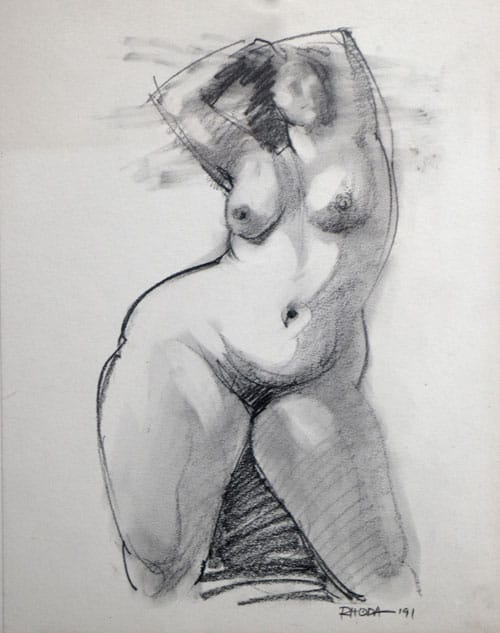 Nude With Hands On Head