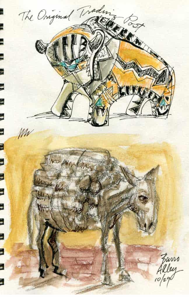 Santa Fe: Bull And Burro