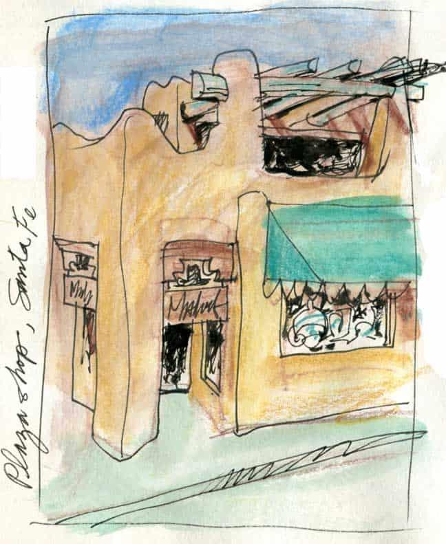 Santa Fe Sketches: Malouf On The Plaza