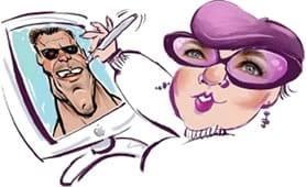 caricaturist Rhoda Draws