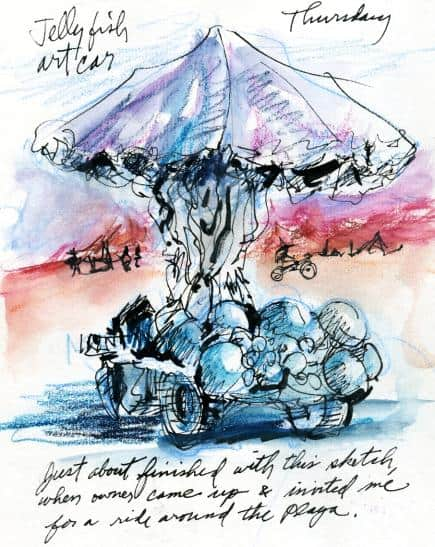 Burning Man Sketches
