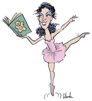 custom caricature: dancer in a pose