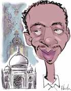 live caricature drawings - digital: ICANNwiki Taj Mahal man