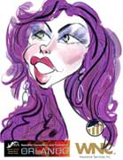 live caricature drawings - digital: glamorous Celeste