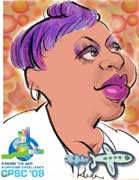 live caricature drawings - digital: Northrup-Grumman black woman