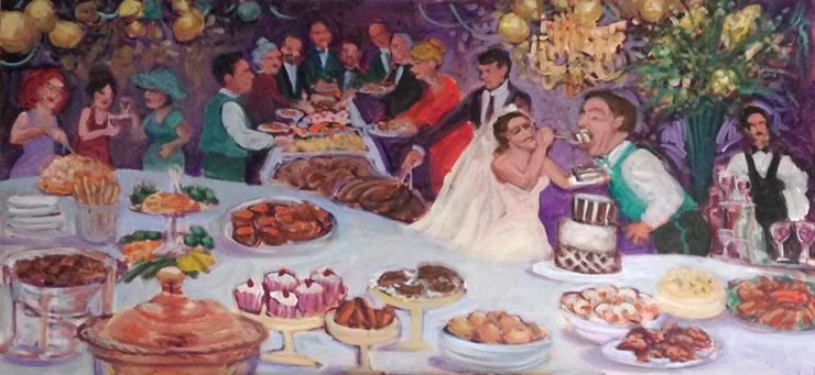 wedding event painting