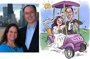 wedding caricatures from photos