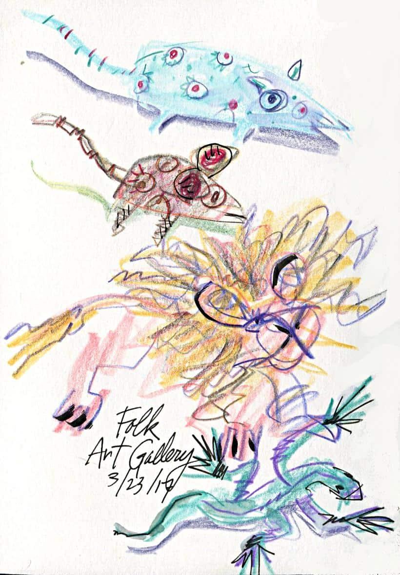 Sketching Folk Art