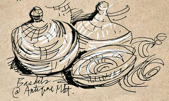 Antique Market Sketches