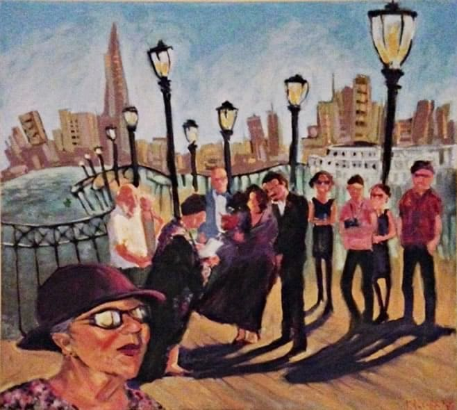 Pier 12, Sanfrancisco wedding painting