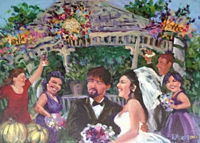 Tricia and Ryan's wedding painting