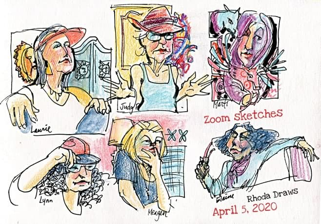 Live virtual event Zoom sketches