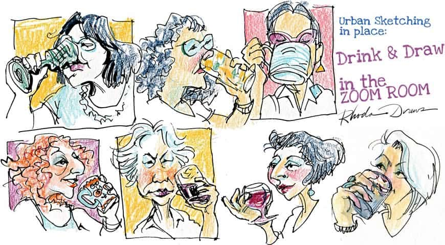 ZOOM sketchers - Drink and Draw